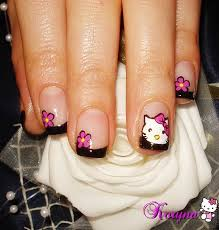 64 best hello kitty nails images on pinterest hello kitty nails