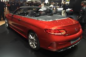 convertible mercedes red designer fabric new 2016 mercedes c class cabriolet revealed at