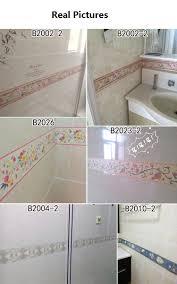 self adhesive wall paper 10m classical floral stickers vinyl waterproof waistline self
