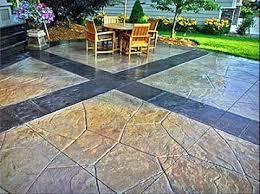 Patio Concrete Tiles Stone Flooring Backyard Patio Design Ideas Slate Patio