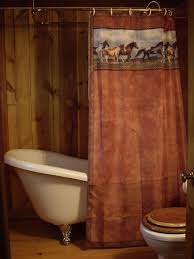 Western Fabric For Curtains Shabby Brown Fabric Shower Curtains For White Acrylic Tub