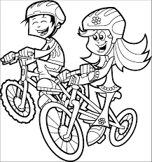 cartoon coloring pages riding bike coloring pages wecoloringpage