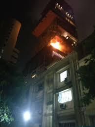 terrace of mukesh ambani u0027s house antilia catches fire