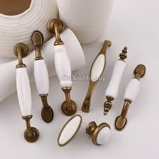 kitchen door furniture shop 5pcs white ceramic door handles european antique