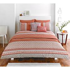 Tribal Pattern Comforter Moroccan Inspired Duvet Cover With Stylish Mosaic Tribal Pattern