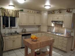 White Painted Cabinets With Glaze by Refinish Kitchen Cabinets Antique White Roselawnlutheran