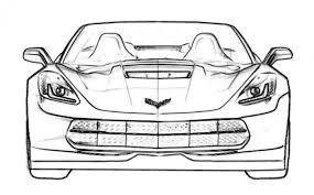 free car coloring corvette stingray c7 kids free cars