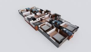 3 bedroom apartment floor plan crystal rivers