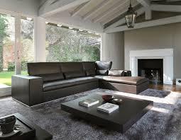 plan canapé canapé d angle contemporain en cuir 5 places plan gyform