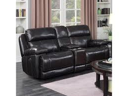 Loveseat Glider Happy Leather Company 1397 Power Glider Loveseat With Center