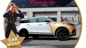 rose gold range rover geordie shore u0027s sophie kasaei range rover velar wrapped sparkly