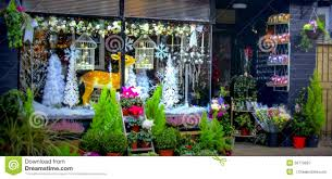 Christmas Window Decorations by Christmas Shop Window In Ludlow Stock Photo Image 50713827