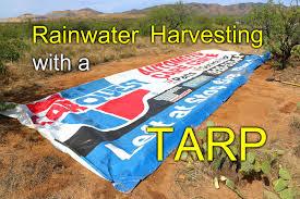 rainwater harvesting with a tarp youtube