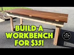 my first woodworking diy video how to build a workbench with a