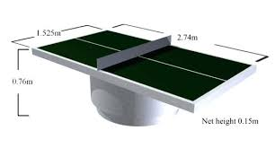 table tennis dimensions inches table tennis demensions size dimensions of a table tennis table