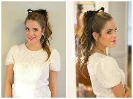 ribbon ponytail curly ponytail with bow ribbon hair world magazine