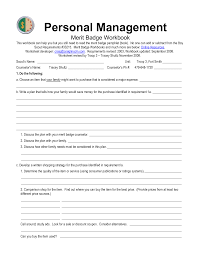 cooking merit badge worksheet answers personal management merit badge worksheet answers 28 templates