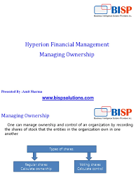 oracle hyperion hfm ownership management consolidation business
