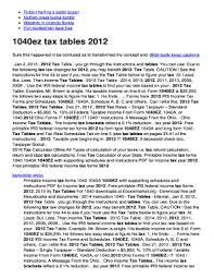 1040ez Tax Table 2014 Tax Table Federal 1040ez Brokeasshome Com