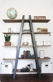 Diy Shelf Leaning Ladder Wall by Best 25 Corner Ladder Shelf Ideas On Pinterest Ladder Display