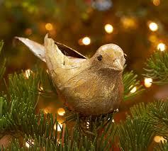 gold bird ornament pottery barn