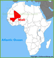 Africa Maps by Mali Location On The Africa Map