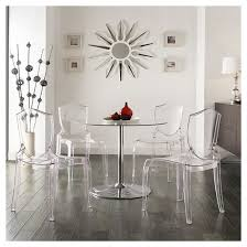 Clear Dining Room Table Odessa Ghost Chair Plastic Clear Set Of 2 Inspire Q Target