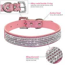 dog necklace leather images Girl dog collars leather shiny diamante small medium dog necklace jpg