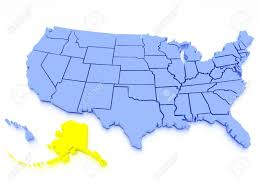 usa map alaska a 3d rendered map of usa state alaska stock photo picture and