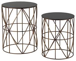 Metal Accent Table Innovative Round Metal Accent Table Set Of Two Gold Finish Round