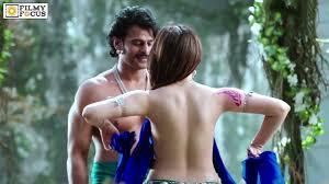 did tamannah really wear nothing in baahubali song youtube