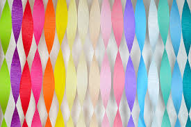 tissue streamers aqua crepe paper streamers easy wedding and party decoration