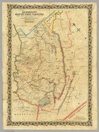 Map Of Virginia And West Virginia by Map Of West Virginia Richardson C S 1864