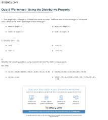 using the distributive property worksheet free worksheets library