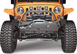 jeep body armor bumper body armor jk 19532 front mid stubby winch bumper for 07 17 jeep