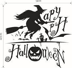 flying witch halloween decoration aliexpress com buy 1pcs halloween witch wall stickers flying