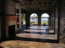 atlanta concrete porch ideas traditional with covered patio