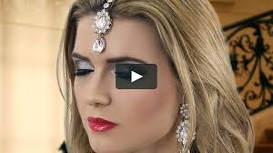hair stayel open daylimotion on pakisyan black smokey eye evening party makeup indian asian pakistani