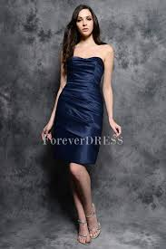 skin smooth satin strapless shirring feature affordable dark blue