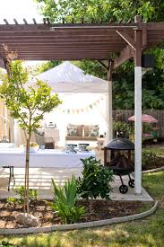 domestic fashionista backyard birthday party and dessert canopy