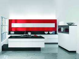 kitchen splendid cool modern red kitchen design with black