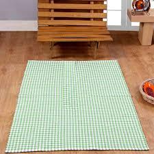 Rugs For Kids Washable Cotton Gingham Rugs Pink Blue Beige Green Orange Carpet