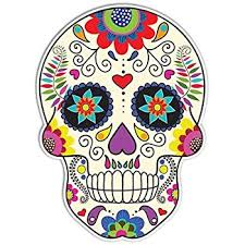 amazon com sugar skull sticker day of the dead decal by megan j