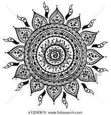 clipart of beautiful indian ornament k13240615 search clip