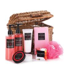 bath and body gift set womens spa basket floral scent ebay