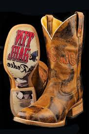 tin haul mens lucky u trick rider patchwork western brown cowboy