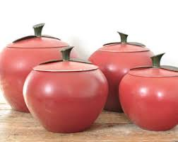 apple canisters for the kitchen apple canister etsy