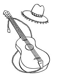 mexican guitar colouring mexican guitar colouring