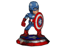 avengers chibi captain america ver 2 free papercraft