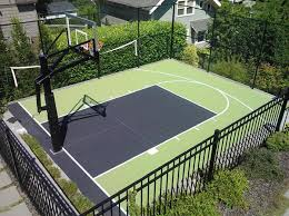 stylish decoration backyard basketball courts alluring 1000 ideas